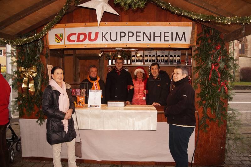 CDU-Stand bei Weihnachtsmarkt